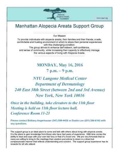 Manhattan Support Group | National Alopecia Areata Foundation